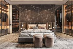 30 Awesome Luxury Bedroom Design Ideas You Never Seen Before - A number of interior designers have had successes from previous designs that capture the plain white room into something that can distract an owner de. Modern Luxury Bedroom, Luxury Bedroom Design, Master Bedroom Interior, Modern Master Bedroom, Master Bedroom Design, Luxurious Bedrooms, Interior Design, Paris Bedroom, Luxury Bedrooms