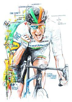 Step, Cycling Art, Bike Art, Tattoo Ideas, Comic Books, Comics, Sports, Bicycles, Cycling