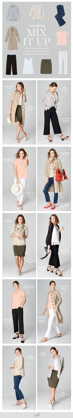 dbfa343b2635 J.Jill Mix it Up. Mix and match these 9 styles for a months. Winter Outfits  For WorkSimple ...