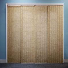 Chicology Adjustable Sliding Panel Cordless Shade Double Rail Track Privacy Fabric 80-inch x 96-inch Provence Maple