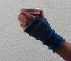 FINGERLESS mitts / wrist warmers .Supersoft Merino / by alidufty, $23.00