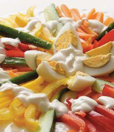 Renkli Enerji Salatası Tarifi    www.afiyetle.com