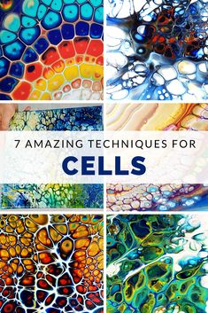 Fluid Art Cells Technique Compilation by Olga Soby from Smart Art Materials Beautiful Acrylic Painting Video Tutorial Pour Painting Techniques, Acrylic Pouring Techniques, Acrylic Pouring Art, Acrylic Painting Tutorials, Acrylic Resin, Painting Lessons, Acrylic Art, Resin Art, Flow Painting