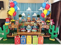 Back drop for snack area Toy Story Birthday, Birthday Party Themes, 2nd Birthday, Toy Story Baby, Toy Story Theme, Toy Story Decorations, Festa Toy Store, Cumple Toy Story, Disney Parties