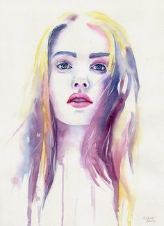 Watercolor Paintings by Cora and Tiana