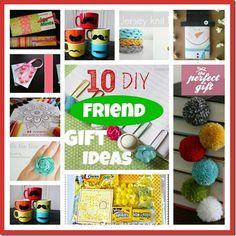 """10 DIY little friend gift ideas"" so good for friends , birthdays or Christmas"