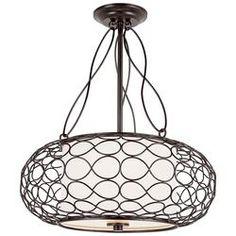 Outer Birdcage 2 Light Drum Pendant