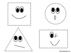 Figure geometriche da ritagliare - TuttoDisegni.com Preschool Math Games, Free Kindergarten Worksheets, Autism Activities, Preschool Education, Learning Shapes, Easy Easter Crafts, Math Work, Math For Kids, Template