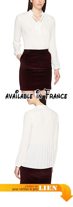 B071Z1QTRK : s.Oliver BLACK LABEL 11710118727 Blouse Col Mao Manches Longues Femme Blanc (Warm White 0200) 46.
