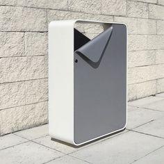 Public trash can / metal / original design SHEET LARUS DESIGN