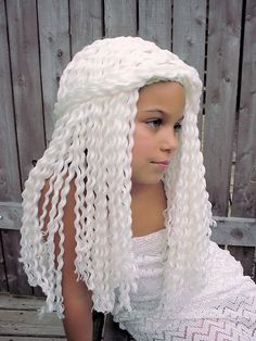 Khaleesi wig! (Yarn Falls Hair Crochet Wig by Naomi of Coo Coo Botique @ Etsy.com, © 2013)