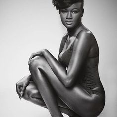 """Meet this Melanin Goddess Khoudia Diop! They nicknamed me Darky, daughter of the night, mother of the stars""""   Every now and again in this lifetime you will come across someone so beautiful you have to wonder, 'is this person real?"""". Khoudia Diop is from Senegalese/France and her dark skin along with her stunning features have brought her a lot of attention including write-ups in Bossip and African Celebs.   From her Instagram I can tell that she is an artist full of compassion and pri"""