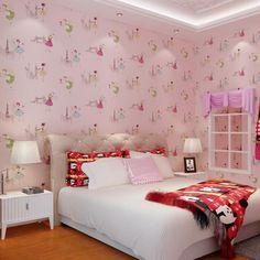 Beibehang Home decoration cartoon ballet pattern wallpaper blue pink yellow purple wallpaper boy girl warm kids room wallpaper