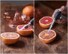 Caramelized Red Grapefruit = creme brulee breakfast!