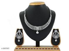 Checkout this latest Jewellery Set Product Name: *Attractive Trendy Jewellery Set* Country of Origin: India Easy Returns Available In Case Of Any Issue   Catalog Rating: ★4.1 (332)  Catalog Name: Elite Stylish Attractive Alloy Women's Jewellery Sets Vol 5 CatalogID_454029 C77-SC1093 Code: 042-3287987-435