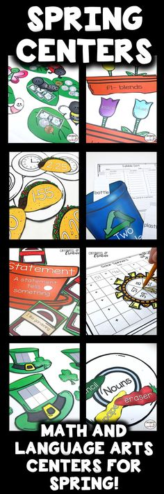 Spring Centers are perfect for spring time interactive learning and cover both ELA and math concepts! These centers are meant to be printed in color, but can be also printed in grayscale to save ink. These centers are geared towards second graders, but can be used for superstar first graders or third graders who may be struggling. Practice time, two digit addition, parts of speech, syllables and more!