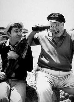 """Gilligan's Island"" (1964-67)  Bob Denver as Gilligan  Alan Hale Jr. as Skipper"