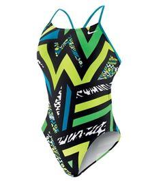Nike Swim Pow! Cut Out Tank at SwimOutlet.com - Free Shipping