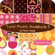 Tutti Frutti Andalucia II Fat Quarter Bundle Patty Young for Michael Miller Fabrics - Fat Quarter Shop