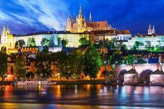 Night scenery of Prague - light, city, Praque, night Prague City, Prague Castle, Full Hd Wallpaper, Wallpaper Online, Desktop Wallpapers, Night Scenery, Gothic Cathedral, Prague Czech Republic, Old Town Square