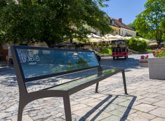 15 glass benches made of Pilkington Glass were unveiled on the market square of the Old Town in . Pilkington Glass, Outdoor Furniture, Outdoor Decor, Old Town, Poland, Old Things, Benches, Places, Home Decor