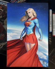 """The Reasons I'm Broke Podcast 🎙️ thecomicninja: """"Supergirl by Warren Louw """" DC Comics Super Héroine Marvel, Marvel Dc, Marvel Comics, Heros Comics, Dc Comics Girls, Dc Heroes, Dc Comics Women, Dc Comics Superheroes, Arte Dc Comics"""