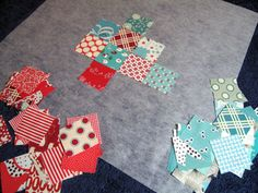 Quickest method ever to make a block quilt! This would make a great quilt bag.