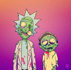 Zombie Rick and Morty Rick And Morty Drawing, Rick And Morty Tattoo, Rick And Morty Quotes, Rick And Morty Poster, Zombie Cartoon, Cartoon Art, Rick Und Morty, Rick And Morty Characters, Drawn Art