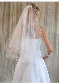 White Tulle Elbow-length Pleated Bridal Veils wedding accessories bridal veils