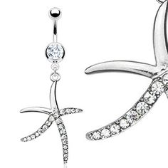 Starfish w/ diamonds belly ring!
