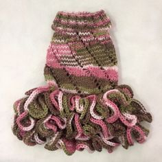 Handmade-Knit-Clothes-Sweater-Dress-and-Hat-for-Dogs-Pets-Size-XXS-XS-S