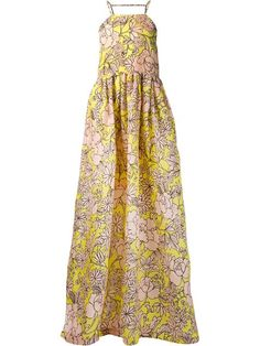 Shop MSGM floral print long flared dress in Laboratoria from the world's best independent boutiques at farfetch.com. Shop 300 boutiques at one address.