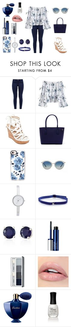 """alışveriş"" by morturtle on Polyvore featuring moda, Ted Baker, GUESS, Casetify, Oliver Peoples, DKNY, Effy Jewelry, Clinique, Guerlain ve Charlotte Russe"