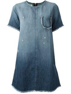 Current/Elliott vestido vaquero con bordes deshilachados