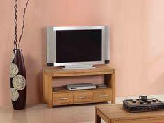 Meuble TV BROCELIANDE II - 1 niche, 3 tiroirs - chêne huilé