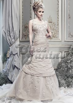 Ian Stuart Bridal Dresses in Lady Luxe collections will make you look like a royal leady with innocent beauty with timelessly elegant wedding dresses Taupe Wedding, Elegant Wedding Gowns, 2015 Wedding Dresses, Wedding Dress Shopping, Perfect Wedding Dress, Bridal Dresses, Ian Stuart, Elegant Woman, The Dress