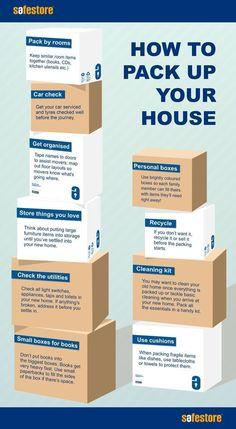How to pack up your house - handy tips / #McDevittTownandCountry #McDevitt #Pinehurst #moving #movingtips #checklist