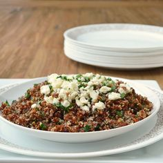 A warm version of tabbouleh made with red quinoa, the perfect It's-Winter-But-Spring-Will-Be-Here-Soon kind of dish, and 9 more excitingly easy #sidedish recipes to get you over the winter blahs.
