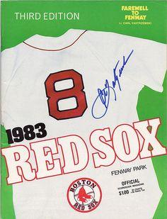 1983 Red Sox Program - Autographed by Carl Yastrzemski