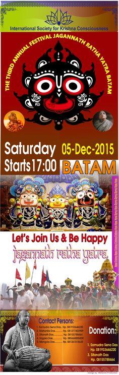 Nitai Gaura Krishna Center Batam Kepulauan Riau Indonesia: The Third Annual Jagannath Ratha Yatra - Batam - K...