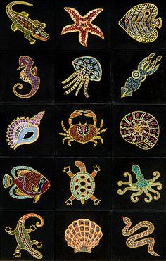 (381x600, 100Kb) Aboriginal Art Animals, Aboriginal Art Symbols, Aboriginal Art For Kids, Aboriginal Patterns, Aboriginal Dot Painting, Dot Art Painting, Painting Patterns, Indigenous Australian Art, Indigenous Art