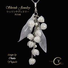 Stamp & Paint Shrink Jewelry Shrink Plastic in Jewelry by Chieko Yuguchi Plastic Art, Plastic Flowers, Plastic Beads, Shrink Plastic Jewelry, Resin Jewelry, Jewelry Art, Handmade Accessories, Handmade Jewelry, Shrink Art