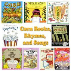 Corn and Popcorn Rhymes, Songs, and Books for preschool and kindergarten Preschool Songs, Preschool Lesson Plans, Preschool Themes, Preschool Crafts, Songs For Toddlers, Kids Songs, Rhymes Songs, Preschool Library, Kindergarten Books