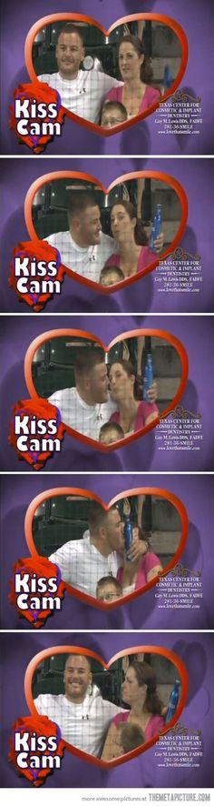 Hilarious Kiss Cam... He's a Jack-A$$! ha ha