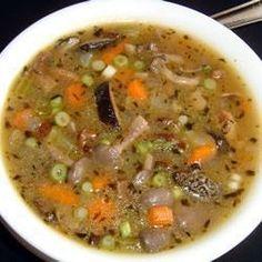 Soupe aux champignons et aux légumes