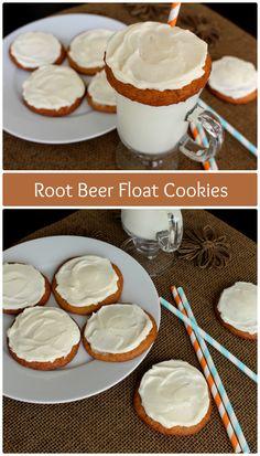 Root Beer Float Cookies | www.chocolatewithgrace.com | #rootbeer #cookies #recipe