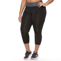Plus Size Tek Gear® Colorblock Crop Leggings, Women's, Size: 2XL, Black