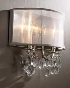This is great!   Shaded Chandelier Sconce