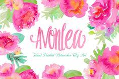 Clip Art Wedding Invitation Avonlea Watercolor Flowers Clip Art by Bella Love Letters on Creative Market Pocket Scrapbooking / Project Life / Journaling / Memory Keeping