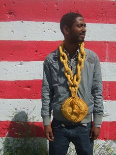 flava flav-inspired chain clock by sherrie savage